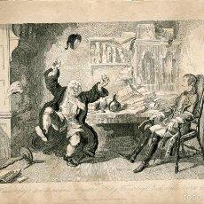Arte: LADY WAVERLEY TEN THOUSAND A YEAR GRABADO POR GEORGE CRUIKSHANK EN 1840. Lote 56825301