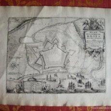 Arte: 1694- PLANO DE ROSES. ROSAS. GIRONA. GERONA. NICOLÁS DE FER. GRABADO ORIGINAL. Lote 56840184