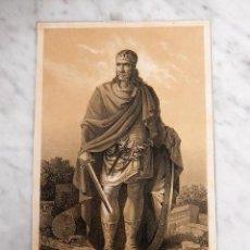 Arte: LOTE DE 9 GRABADOS S. XIX, DE ANTIGUOS REYES DE ESPAÑA. Lote 56848939