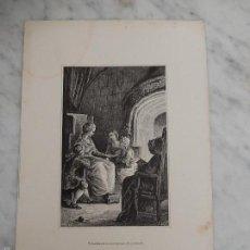 Arte: TRES GRABADOS S. XIX. Lote 56849499