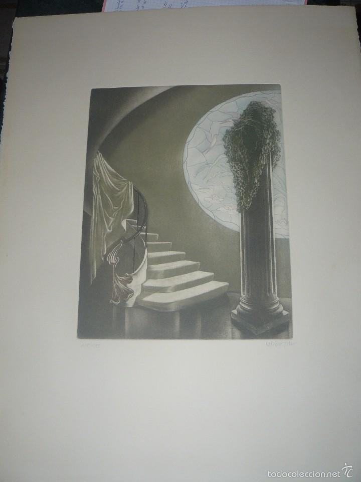 GRABADO DE RAMIRO UNDABEYTIA - INTERIOR - FIRMADO A LÁPIZ N° 118 DE 175 (Arte - Grabados - Contemporáneos siglo XX)