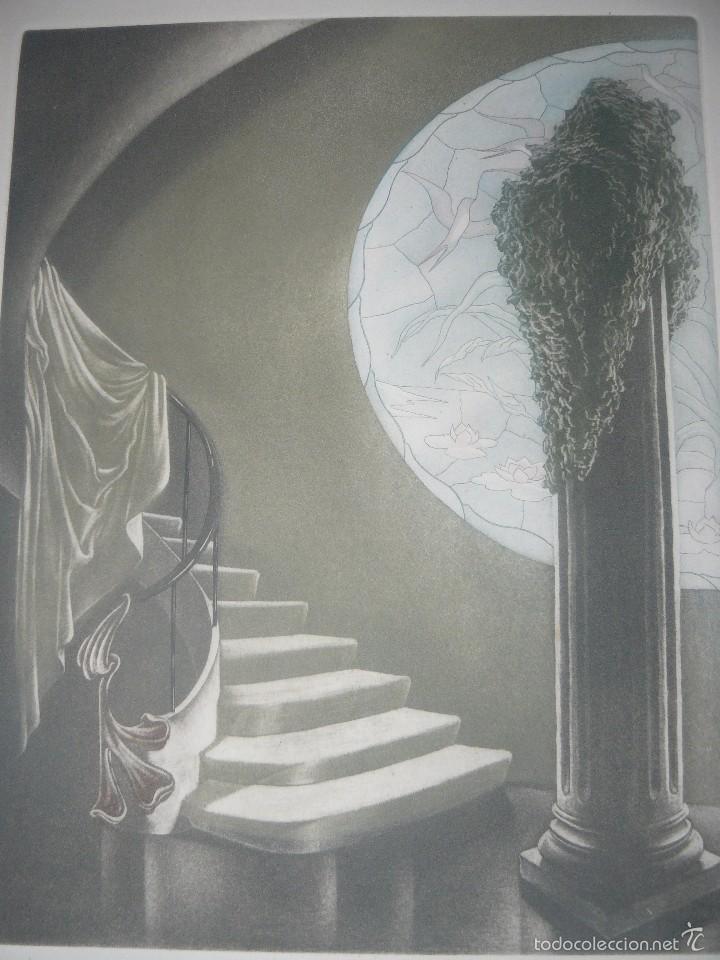 Arte: GRABADO DE RAMIRO UNDABEYTIA - INTERIOR - FIRMADO A LÁPIZ N° 118 DE 175 - Foto 2 - 56892768