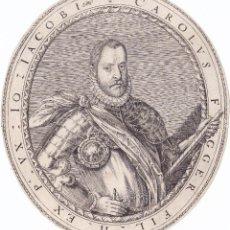 Arte: GRABADO SIGLO XVI JAKOB CARLOS FUGGER, DE DOMINICUS CUSTOS AÑO 1593 FLANDES AMBERES. Lote 56923259