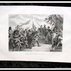 Arte: 1853 - VISPERA DE LA BATALLA DE LAS NAVAS - GRABADO - ENGRAVING - GRAVURE. Lote 56978792