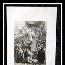 Arte: 1853 - CRUZADA CONTRA LOS MOROS - GRABADO - ENGRAVING - GRAVURE - 240X150MM. Lote 57017337