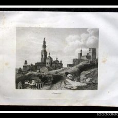 Arte: 1853 - CARMONA - SEVILLA - GRABADO - ENGRAVING - GRAVURE - 240X155MM. Lote 57017926