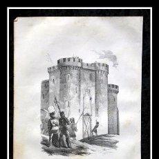 Arte: 1853 - CERCO Y TRAICION DE MONTIEL - GRABADO - ENGRAVING - GRAVURE - 240X160MM. Lote 57018099