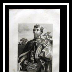 Arte: 1852 - PEDRO I EL CRUEL - REY CASTILLA Y LEON - GRABADO - ENGRAVING - GRAVURE - 243X155 MM. Lote 57041147