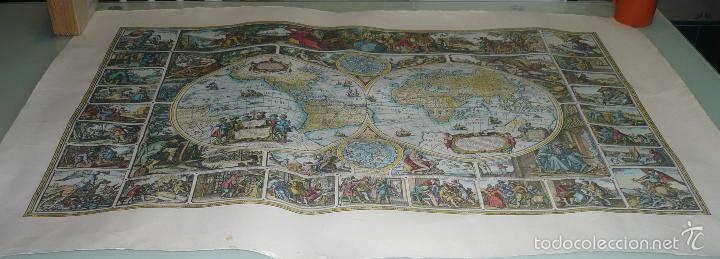 grabado carta magna mapa mundi antiguo 105 x 7  Comprar Grabados