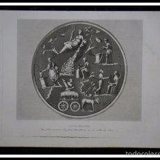 Arte: 1852 - PLATO ROMANO EN VALLE DE OTAÑEZ - GRABADO - ENGRAVING - GRAVURE - 240X153 MM. Lote 57057921