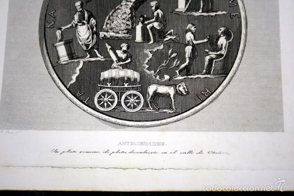 Arte: 1852 - PLATO ROMANO EN VALLE DE OTAÑEZ - GRABADO - ENGRAVING - GRAVURE - 240x153 mm - Foto 3 - 57057921