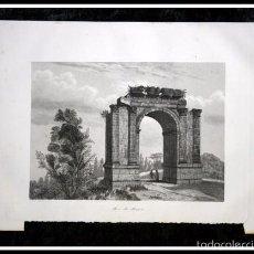 Arte: 1853 - ARCO DE BARA - TARRAGONA - GRABADO - ENGRAVING - GRAVURE - 243X158 MM. Lote 57080840