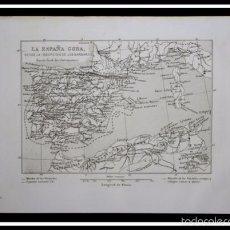 Arte: 1853 - MAPA LA ESPAÑA GODA - GRABADO - ENGRAVING - GRAVURE - 242X157 MM. Lote 57080978