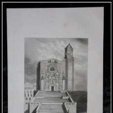 Arte: 1852 - CATEDRAL DE GERONA - GRABADO - ENGRAVING - GRAVURE - 242X155 MM. Lote 57104691