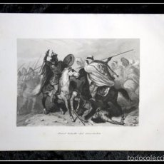 Arte: 1852 - FATAL BATALLA DE GUADALETE - GRABADO - ENGRAVING - GRAVURE - 240X155 MM. Lote 57104769