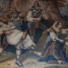 Arte: GRABADO COLOREADO REPRESENTACIÓN CACERÍA S.XIX. Lote 57233059