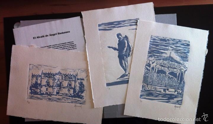 Arte: ESTAMPAS DE ALCALÁ - GRABADOS DE ÁNGEL HUMANES - CARPETA CON 3 GRABADOS NUMERADOS Y FIRMADOS - Foto 2 - 57357445