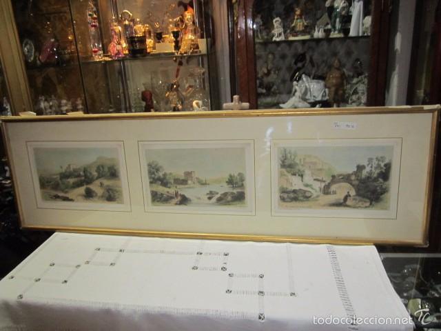 cuadro con 3 grabados. medida marco: 86,5 x 26 - Comprar Grabados ...