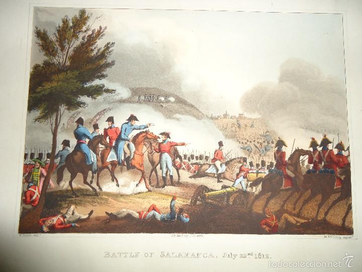 1815 - MILITAR - GUERRA DE LA INDEPENDENCIA - BATALLA DE SALAMANCA - 22 JULIO 1812 (Arte - Grabados - Modernos siglo XIX)