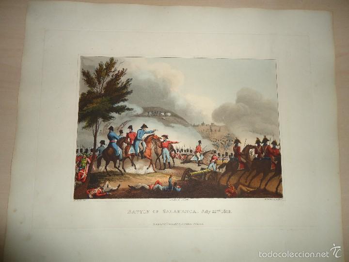 Arte: 1815 - MILITAR - GUERRA DE LA INDEPENDENCIA - BATALLA DE SALAMANCA - 22 JULIO 1812 - Foto 2 - 57381313