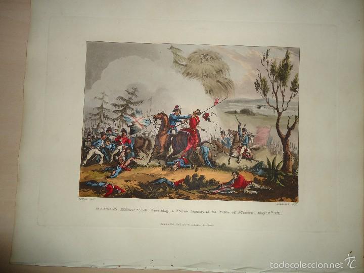 Arte: 1815 - MILITAR - GUERRA DE LA INDEPENDENCIA - BATALLA DE LA ALBUERA BADAJOZ - 16 MAYO 1811 - Foto 2 - 57381601