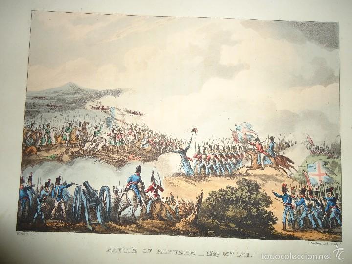1815 - MILITAR - GUERRA DE LA INDEPENDENCIA - BATALLA DE LA ALBUERA BADAJOZ - 16 MAYO 1811 (Arte - Grabados - Modernos siglo XIX)