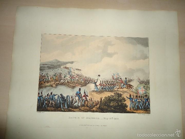 Arte: 1815 - MILITAR - GUERRA DE LA INDEPENDENCIA - BATALLA DE LA ALBUERA BADAJOZ - 16 MAYO 1811 - Foto 2 - 57381622