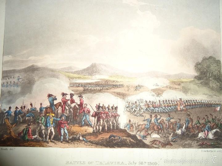 BATALLA DE TALAVERA - 28 JULIO 1809 - MILITAR - GUERRA DE LA INDEPENDENCIA - 1815 (Arte - Grabados - Modernos siglo XIX)
