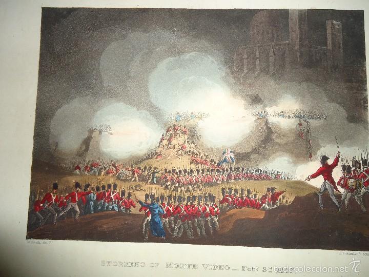 1815 - MILITAR - GUERRA DE LA INDEPENDENCIA - SITIO DE MONTEVIDEO - 3 FEBRERO 1807 (Arte - Grabados - Modernos siglo XIX)