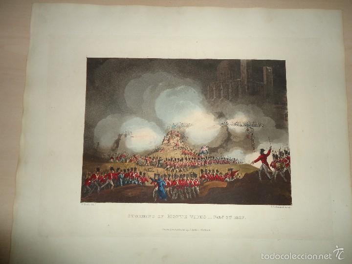 Arte: 1815 - MILITAR - GUERRA DE LA INDEPENDENCIA - SITIO DE MONTEVIDEO - 3 FEBRERO 1807 - Foto 2 - 57382166