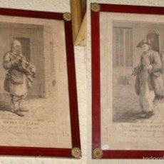 Arte: BONITA PAREJA DE GRABADOS FRANCESES. S.XVIII.. Lote 57386604