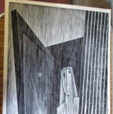Arte: GRABADO XILOGRAFICO (LINOLEO) DE AGUSTIN IBARROLA -- AÑOS 70 ORIGINAL.. Lote 57391188