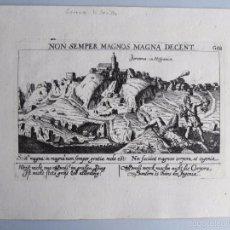 Arte: 1638- GERENA. SEVILLA. GRABADO ORIGINAL DE MEISNER.. Lote 57400000