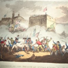 Arte: 1815 - GRABADO - MILITAR - DEFENSA DE SAN JUAN DE ACRE - 8 MAYO 1799 - ISRAEL. Lote 57414210