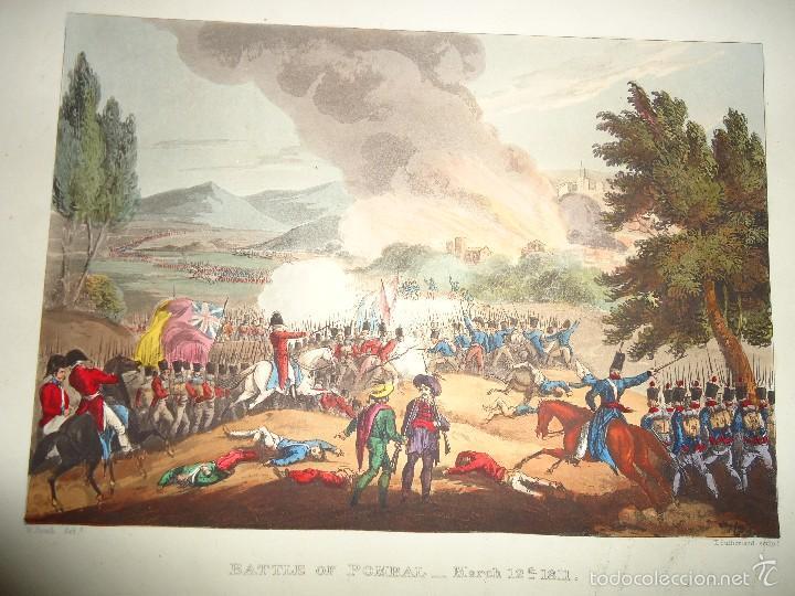 1815 - MILITAR - GUERRA DE LA INDEPENDENCIA - BATALLA DE POMBAL - 12 MARZO 1811 - PORTUGAL (Arte - Grabados - Modernos siglo XIX)