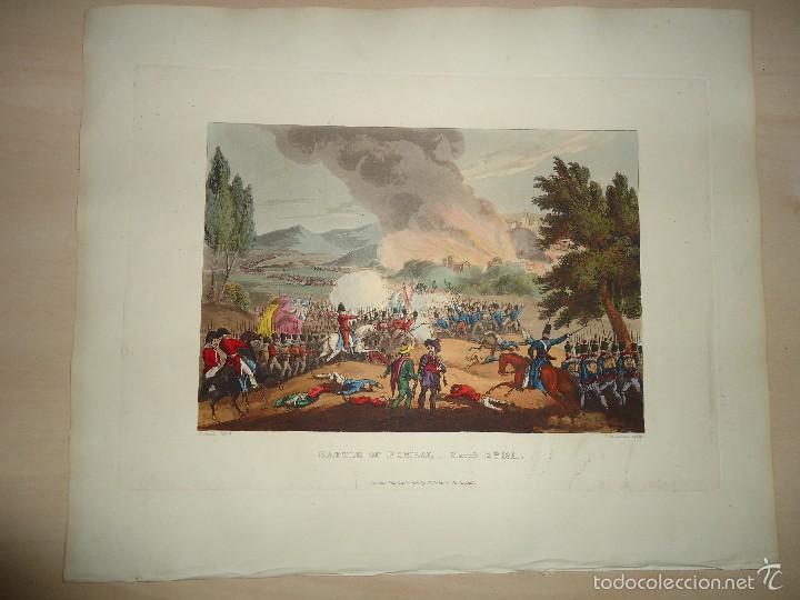 Arte: 1815 - MILITAR - GUERRA DE LA INDEPENDENCIA - BATALLA DE POMBAL - 12 MARZO 1811 - PORTUGAL - Foto 2 - 57415717