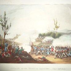 Arte: 1815 - MILITAR - GUERRA DE LA INDEPENDENCIA - ATAQUE EN EL CAMINO A BAYONNE - 13 DICIEMBRE 1813. Lote 57416816