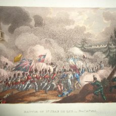 Arte: 1815 MILITAR - GUERRA DE LA INDEPENDENCIA - BATALLA DE ST. JEAN DE LUZ - 10 DICIEMBRE 1813 - FRANCE. Lote 57416970