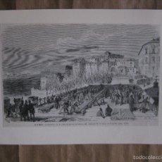 Arte: MADRID. COLOCACION DE LA PRIMERA PIEZA DE HIERRO DEL VIADUCTO DE LA CALLE SEGOVIA. Lote 57469618