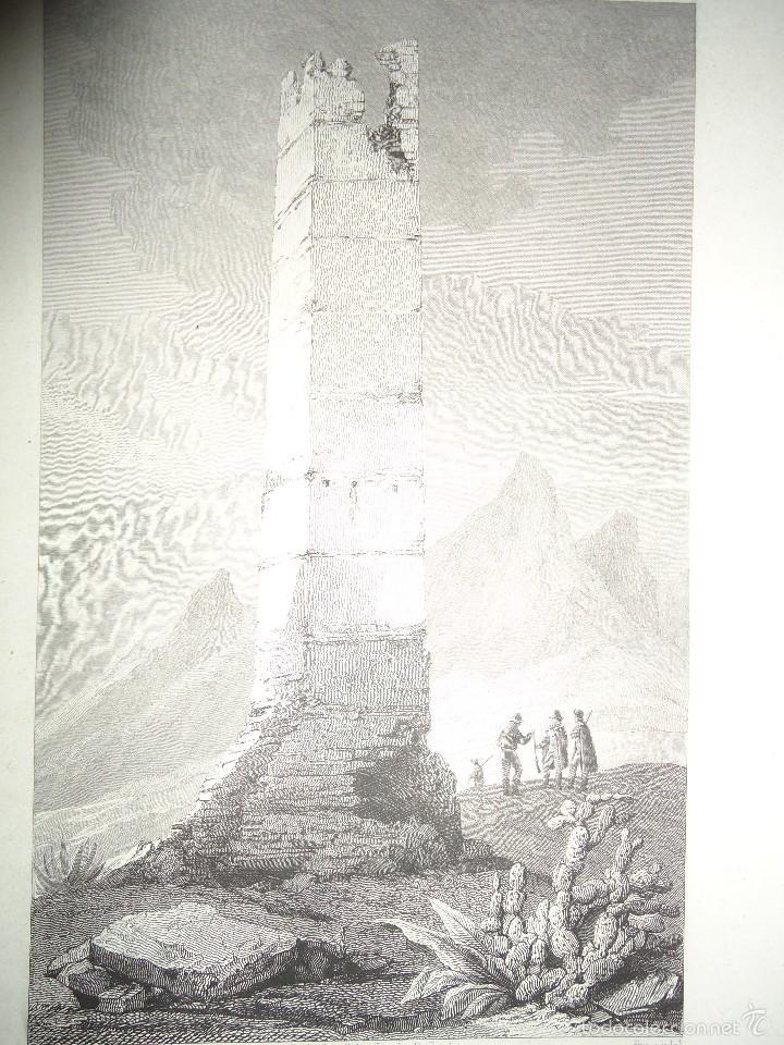TORRE ELEVADA EN LOS ANTIGUOS CAMINOS MOROS. J. TAYLOR. PARIS 1826 1ª EDICIÓN - 22X29 CM. (Arte - Grabados - Modernos siglo XIX)