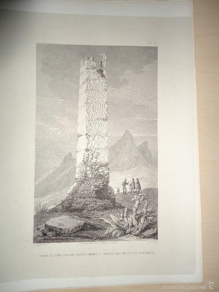 Arte: TORRE ELEVADA EN LOS ANTIGUOS CAMINOS MOROS. J. TAYLOR. PARIS 1826 1ª EDICIÓN - 22x29 cm. - Foto 2 - 57527825