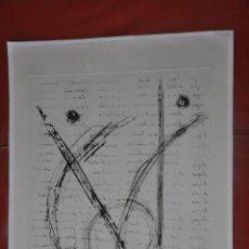 Arte: AGUAFUERTE ORIGINAL , GRABADO ABSTRACTO CONTEMPORANEO . Lote 57528081