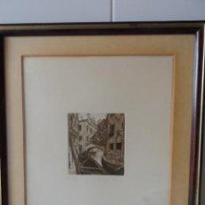 Arte: AGUAFUERTE ITALIANO FIRMADO. Lote 57534518