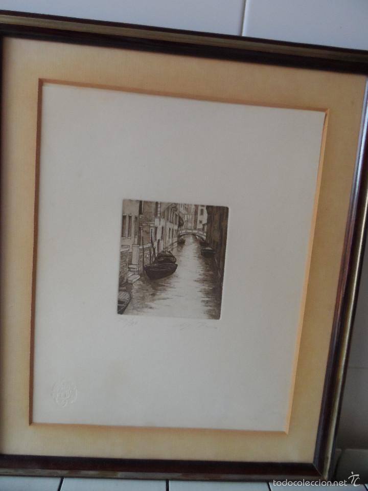 AGUAFUERTE ITALIANO FIRMADO (Arte - Grabados - Contemporáneos siglo XX)
