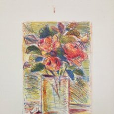 Arte: MARAVILLOSAS FLORES FIRMADAS Y FECHADAS A LAPIZ, 35 X 26 CM. Lote 57571138