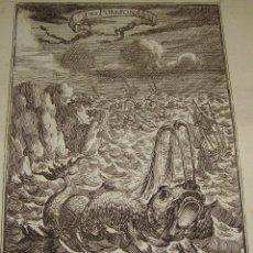 Arte: GRABADO DEL S.XVIII. DU GLOBE TERRESTRE. FIGURE LXXXVII. DES POISSONS.. Lote 57606514