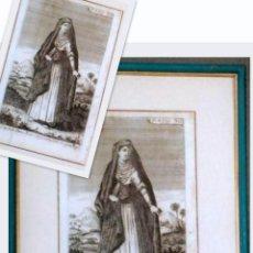 Arte: S-XVIII, GRABADO ENMARCADO.- VESTITO DELLE DONNE MAOMETTANO NELLO STATO DEL GRAN MOGOL.. Lote 28618863