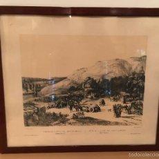 Arte: PEREZ VILLA AMIL - ROMERÍA DE SAN ISIDRO DEL CAMPO EN MADRID - 1842 - LITOGRAFIA. Lote 57727372