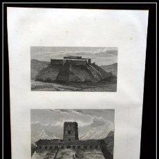 Arte: 1854 - MONUMENTOS MEJICANOS - EN TEHUANTEPEC - EN PALENQUE 244X159 MM GRABADO - ENGRAVING - GRAVURE. Lote 57814416