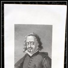 Arte: 1854 - FRANCISCO DE QUEVEDO Y VILLEGAS - GRABADO - GRAVURE - ENGRAVING. Lote 57816187